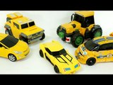 Yellow Color Transformers Carbot Tobot Miniforce  Robot Car Toys 노란색 트랜스포머 카봇 또봇 미니특공대 자동차 장난감  동영상