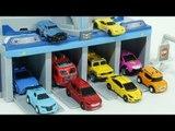 Transformers MiniForce Carbot  Tobot  Shooting Car Toys  미니특공대 출동본부  헬로카봇 트랜스포머 또봇  슈팅카 장난감 놀이
