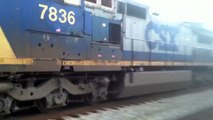 CSX F781 Rocky Mount NC 12/29/15 Last train of 2015