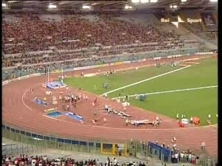 Oscar Pistorius en 2ème position au 400 m à Rome
