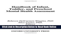 Read Handbook of Infant, Toddler, and Preschool Mental Health Assessment  Ebook Free