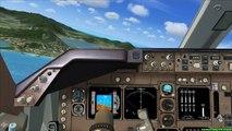 FSX PMDG 747 Landing @ RWY 27 St. Martin / Sint Maarten TNCM (Cockpit view 1080p)