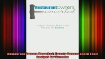 Popular Books Restaurant Owners Uncorked Twenty Owners
