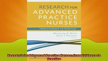 FREE PDF  Research for Advanced Practice Nurses From Evidence to Practice  BOOK ONLINE