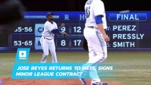 Jose Reyes returns to Mets, signs minor league contract