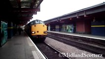 DRS 37's leaving Derby with Network Rail MK1 Coaches 22/08/08 HD 1080p