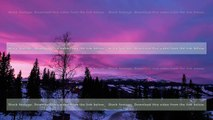 Wonderful pink clouds at sunset time over the winter mountain landscape. Timelapse. Sweden, 4k UHD