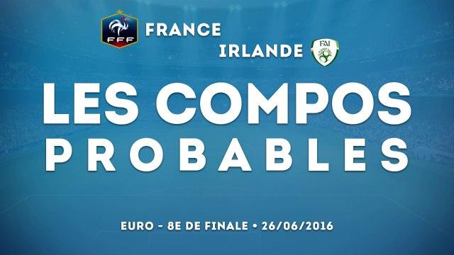 France-Irlande : les compos probables