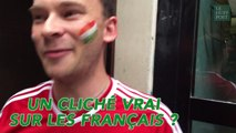 Notre supporter hongrois est épaté par la bonne humeur des Français