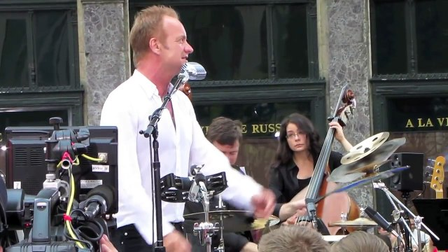 Sting performs 'Englishman In New York' live in NYC