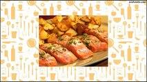 Recipe Roasted Miso Salmon with Lemon and Cilantro with Rosemary Roasted Yukons