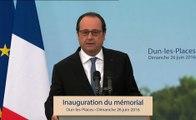 Discours lors de l'inauguration du Mémorial de Dun-les-Places