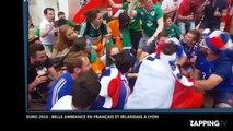 Euro 2016 : France-Irlande, folle ambiance entre supporters français et irlandais à Lyon (Vidéo)