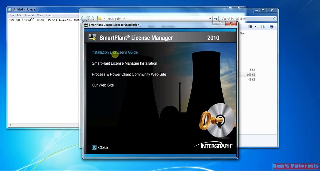 How to install smart plant license manager