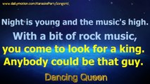 Dancing Queen -  ABBA - Karaoke Party Songs HD