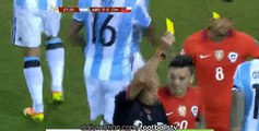 Marcelo Diaz RED CARD - Argentina vs Chile - Copa America Final - 27/06/2016