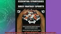 Free PDF Downlaod  Essential Strategies for Winning at Daily Fantasy Sports  BOOK ONLINE