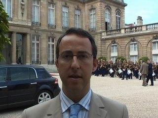Arnaud Teullé au Palais de l'Elysée le 14 juillet 2007