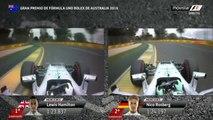 Lewis Hamilton Pole Lap Australia 2016 - Hamilton vs Rosberg Qualifying Onboard lap comparison