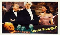 You'll Find Out (1940 comedy film official trailer) -  Boris Karloff Peter Lorre Bela Lugosi