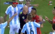 Marcelo Diaz Red Card - Argentina vs Chile - 2016 Copa America FINAL 26.06.2016