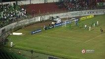 UHHH!! Felipe Alves chuta, e goleiro do Guarani faz bela defesa