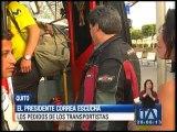Presidente Correa escucha los pedidos de los transportistas