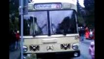 Stadtverkehr Lübeck-Museumsbus Wagen 512 in Schlutup bei der Feier 20 Jahre Mauerfall Oktober 2009