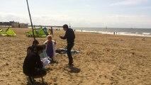 Joséphine Ange Gardien en tournage sur la plage