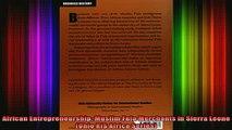 READ book  African Entrepreneurship Muslim Fula Merchants in Sierra Leone Ohio RIS Africa Series Full EBook