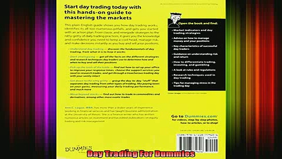 DOWNLOAD FREE Ebooks  Day Trading For Dummies Full EBook