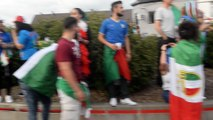Ambiance italienne dans le Borinage après la victoire contre l'Espagne