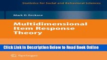 Read Multidimensional Item Response Theory (Statistics for Social and Behavioral Sciences)  Ebook