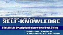 Download Handbook of Self-Knowledge  PDF Free