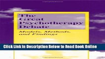 Download The Great Psychotherapy Debate: Models, Methods, and Findings (Lea s Counseling and