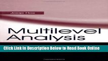 Read Multilevel Analysis: Techniques and Applications (Quantitative Methodology Series)  PDF Online