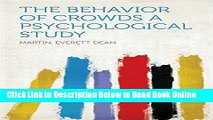 Read The Behavior of Crowds A Psychological Study  PDF Free