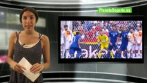 Gol de Chiellini en los octavos de final: España - Italia