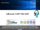 Dial Microsoft customer service number 1-877-761-5159