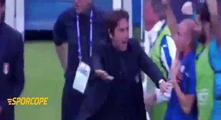 İspanya maçından Antonio Conte kesitleri