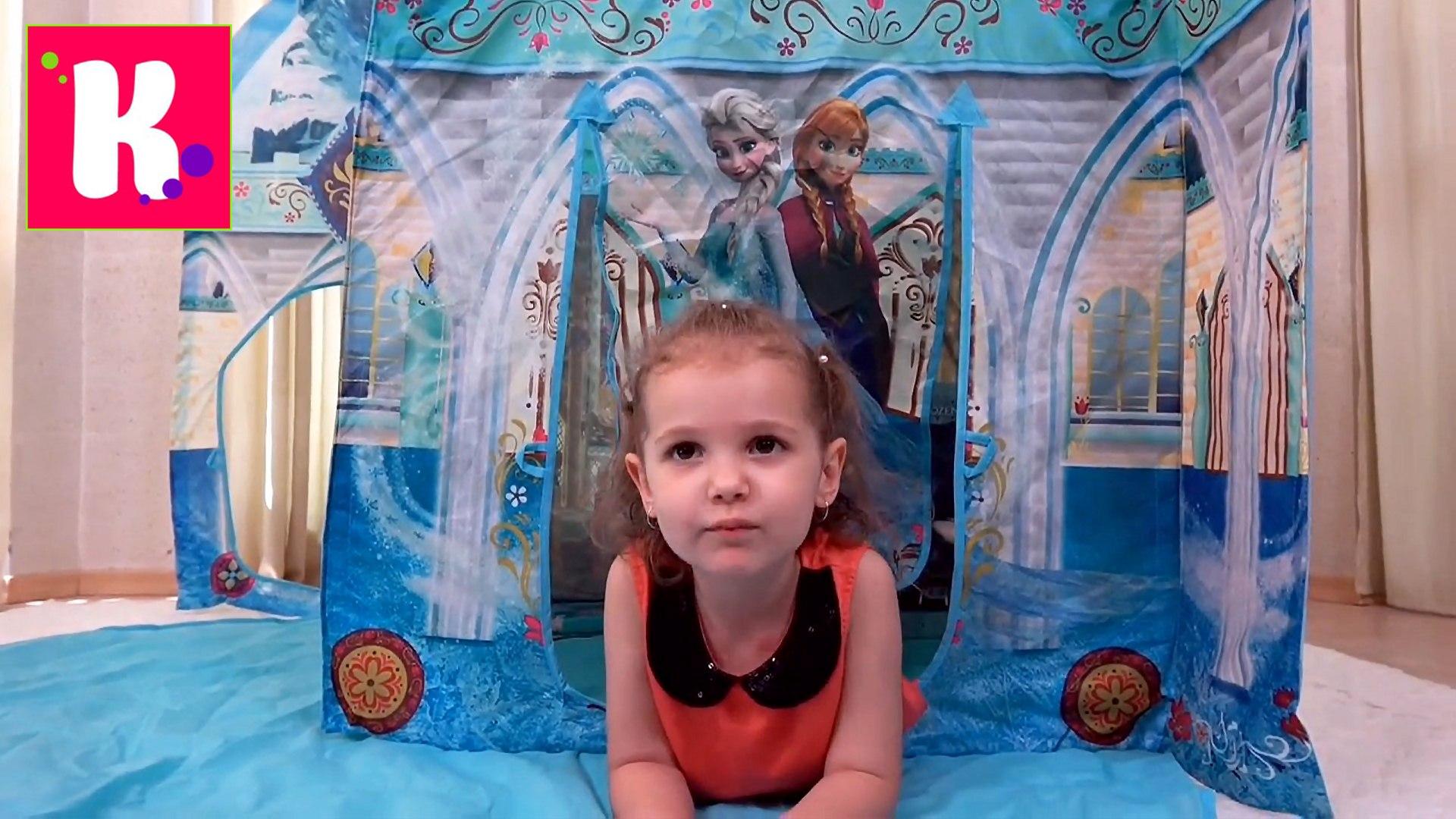 Замок Принцессы Эльза и Анна Дисней Холодное Сердце игрушки Фроузен распаковка конфет Джелли Белли н