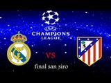 REAL MADRID C.F VS ATLETICO MADRID UEFA CHAMPIONS LEAGUE FINAL RESULTS
