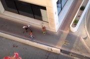 Sokak Kavgasını Amatör Kameralar Kaydetti