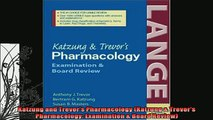 READ book  Katzung and Trevors Pharmacology Katzung  Trevors Pharmacology Examination  Board  DOWNLOAD ONLINE