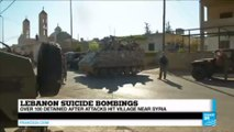 Lebanon suicide bombings:  over 100 detained after attacks hit village near Syria