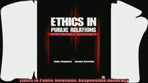 complete  Ethics in Public Relations Responsible Advocacy
