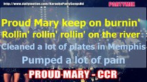 PROUD MARY - CREEDENCE CLEARWATER REVIVAL KARAOKE PARTY WITH LRYCS
