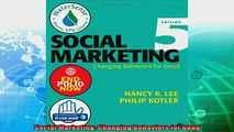 different   Social Marketing Changing Behaviors for Good