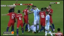 Marcos Rojo RED CARD Foul On Arturo Vidal - Argentina vs Chile 0-0 (Copa America Final) 2016