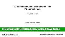 Read] Communication in Nursing 7e (Communication in Nursing